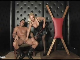 Sluts and fucks Dirty blonde cum slut femdom sucks and fucks slaves big cock