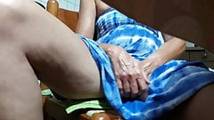 Upskirt spread legs