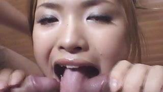 Hot Asian slut in hardcore group fuck!