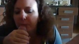 Step Mom sucks dick like nothing and gets for surprise anal