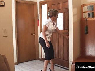 Amber bach fucks her teacher Cougar charlee chase shares hard cock with amber lynn bach