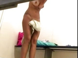 Teen changing room spy Beauty skinny girl in changing room - spy cam clip