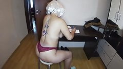 Mom took off her thong and had anal sex with her stepson