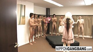 Harajuku hottie gets gangbanged