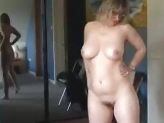 Mature masterbating tube - Mum strips and masterbates for son to film