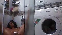 Arab girl in shower
