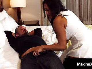 Husband forced to wear wifes pantyhose - Oriental wife maxine x makes cuck husband watch her fuck guy