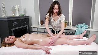Body shaking orgasmic massage of Klava Gorbefog