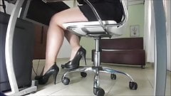 My curvy secretary at work