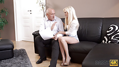 DADDY4K. Adorable Candee Licious has fun with caring old