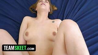 Naughty Pranks Make Sexy Teen Rebecca Vanguard Horny