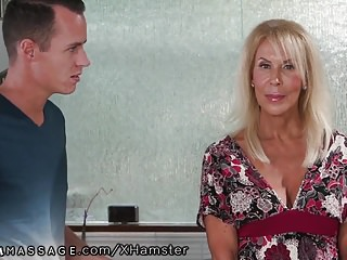 Nuru japanese erotic massage - Mature mommy joins in stepsons nuru massage