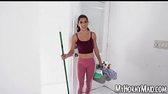 Housekeeper Gabriela Lopez spreads legs for big dick