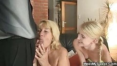 His mom gets mad fucking her son's girlfriend