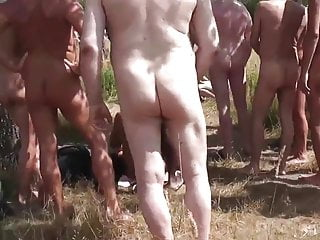 Videos of horny gay sex Crowd of horny cocks fuck a german whore in the outdoor