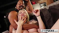 Leya and Shane Diesel feed Rooster Cuck 2 loads of Jizz