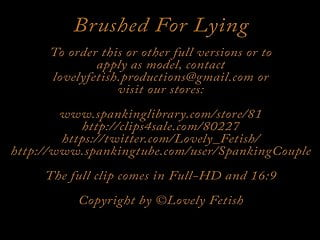 Free spanking video clips spanking orgasm Clip 8lil brushed for lying - ds