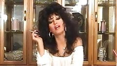 Hot Brunette Cougar Smoking and Teasing