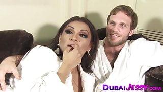 Tbabe Jessy Dubai hammers jock asshole and facial
