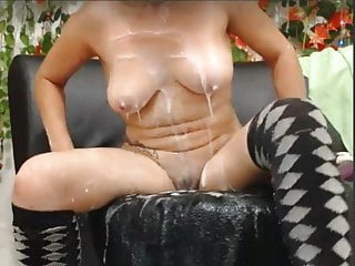 Shemales eating own cum - Incredible mature eating own cum