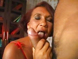 Cum in grandmothers mouth The best hairy grandmother of rio