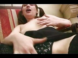 Cock large sex Skinny babe with puffy nipples and her large dildo