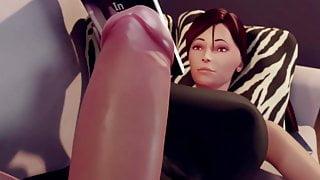 Futanari Laurene Gets Erection (Animation With Sound)