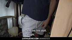 LatinLeche - Boy Convinced to Suck Dick on Film