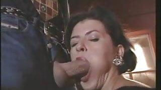 Deborah Wells - Mature in black nylons fucks outdoor