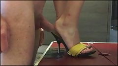 cum on elenas perfect feet and you will be cleaning them!