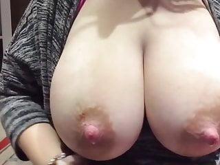 On lactating boobs