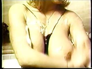 Retro boobs Big boob party feat. debbie jordan -- 1980s lingerie dancing