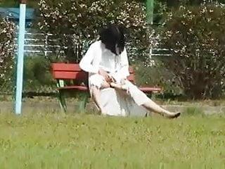 Susans playground transgender Asian milf in public playground