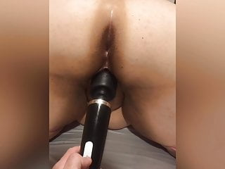Extending the duration of sex Cock extender and giant dildo stretching out my pussy