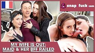 Husband Fucks Maid And Her BFF! SNAP-FUCK.com