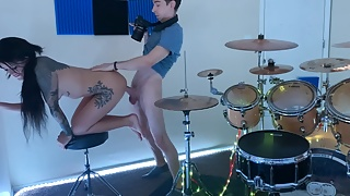 BTSporno-Teen fucking in the drum room