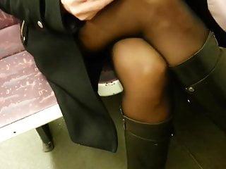 Pantyhose in tmovies Candid sexy milf pantyhose in train 557