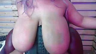 Huge sexy saggy boob latina Bounce Boobs fingers pussy