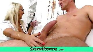 Hot blonde mom Marketa cfnm sex with patient