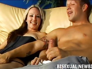 Having your first orgasm - I promise your first bisexual threesome will be amazing