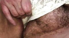 Em pissing in her panties over me