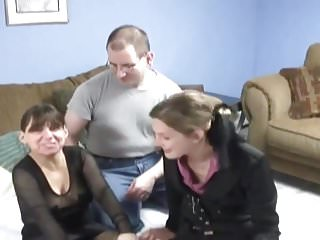 Young naked girl tubes Dad, mom, and girl enjoy being naked