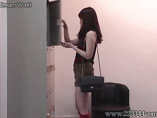 Naked girls locker room video - Japanese slender girl hitomi locker room voyeur