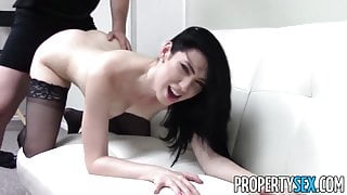 PropertySex - Office rental blackmail sex with hot realtor
