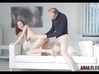 Pregnant asian babes - Hot babe bends over for doggystyle anal sex