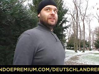 Reporter sex tape Deutschland report - natural curvy babe loves hard sex