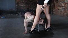 Leg Worship In Handcuffs. Full Clip.