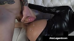 Asian Teen Ember Snow Gets Fat French Cock In A Cat Suit!
