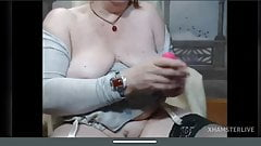 Sexy redhead mature with saggy tits – delicious pussy masturbation