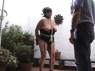 Breast flogging nipple cane Tit paddling, flogging and caning